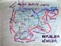 Mapa Německa dětskou rukou pamětníka (Foto zdroj: osobní archiv pana Oldřicha Mudráka)