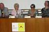 """Mezinárodní konference """"Bezpečnostní aparát, propaganda a Pražské jaro"""" - Miroslav Kusý, Libuše Šilhánová, Agnieszka Hollandová a Jaroslav Suk"""