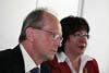 Vedoucí referátů z oddělení zpřístupňování Jürgen Jeschke a Xenie Scheitz