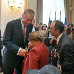 Předání pamětní medaile K. Kramáře: Ágnes Hellerová