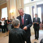 Předání pamětní medaile K. Kramáře: Natalie Gorbaněvská
