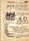 Nákres gondoly výzvědného balonu z archivů Stb