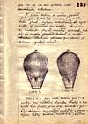 Nákres výzvědných balonů typu Card z archivů Stb
