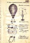 Nákres výzvědného balonu z archivů Stb