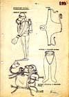 Nákres dobové potápěčské výstroje z archivů Stb I.