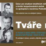 Pozvánka na zahájení výstavy Tváře moci, Brno 2.4.2009