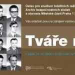 Pozvánka na zahájení výstavy Tváře moci, Praha 14. 11. 2008