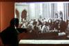 Diskusní seminář 20. výročí smrti Pavla Wonky, 17. 4. 2008 - promítání fotografií Přemysla Fialky z pohřbu Pavla Wonky