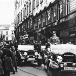 Z Prahy odjel Hitler do Brna, kde mu místní Němci rovněž připravili bouřlivé uvítání. (Zdroj: ABS