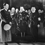 Uvítání Adolfa Hitlera na brněnské radnici. (Zdroj: ABS)