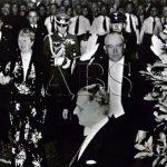 V červnu 1939 proběhl v Praze první německý kulturní týden. Na snímku říšský protektor von Neurath s chotí na slavnostním představení v Novém německé divadle (dnešní Státní opera). (Zdroj: ABS)
