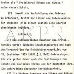 Výnos vůdce a říšského kancléře Adolfa Hitlera o zřízení protektorátu Čechy a Morava ze dne 16. března 1939 - 4/9. (Zdroj: AKPR)