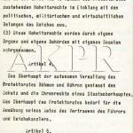 Výnos vůdce a říšského kancléře Adolfa Hitlera o zřízení protektorátu Čechy a Morava ze dne 16. března 1939 - 5/9. (Zdroj: AKPR)