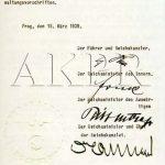 Výnos vůdce a říšského kancléře Adolfa Hitlera o zřízení protektorátu Čechy a Morava ze dne 16. března 1939 - 9/9. (Zdroj: AKPR)