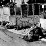 Oběti hromadné vraždy spáchané příslušníky SS v ulici Pod Habrovou v Praha5 - Barrandov (zdroj: ABS)