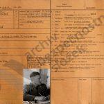Ukázka evidenčních karet příslušníků Gestapa úřadovny v Českých Budějovicích (zdroj: ABS)