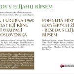 Pozvánka na besedy s Elijahu Ripsem (FF UK, 21.4.2009 a Židovského muzea v Praze , 22.4.2009)