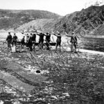 Poprava sedmi mužů v obci Živohošť na Příbramsku dne 7. května 1945 - náčrtek místa popravy (zdroj: ABS)