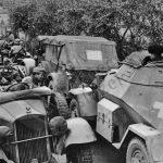 Německá armáda byla německou propagandou prezentována jako velmi kamarádská. Zde přátelské pokřikování při střídání na frontě.