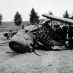 Nepovedené přistání německého průzkumného letounu Henschel Hs 126