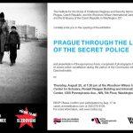 "Pozvánka na výstavu ""Praha objektivem tajné policie"" (Washington, Woodrow Wilson International Center for Scholars, 20.8.2009)"