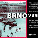 """Pozvánka na výstavu """"Brno v srpnu 1969"""""""