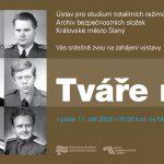 Pozvánka na zahájení výstavy Tváře moci, Slaný 11. 9. 2009