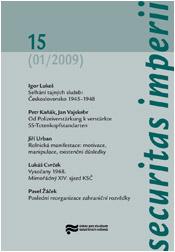 Obálka časopisu Securitas Imperii 15 - ilustrační foto
