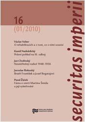 Obálka časopisu Securitas Imperii 16 - ilustrační foto