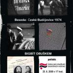 """Pozvánka na besedu """"České Budějovice 1974 - Bigbeat obuškem"""" (ÚSTR, 25.6.2009)"""