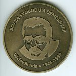 Medaile Václava Bendy (avers)