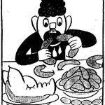 Ukázka dobové karikatury (Vesnické noviny Bystřicka, ročník 1958) (Foto zdroj: Martin Šikula)