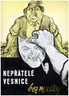 """Ilustrační foto: Obal publikace """"Nepřátelé vesnice bez masky"""""""
