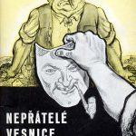 Dobová protikulacká karikatura (Lev Haas) z50. let