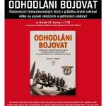"""Pozvánka na pezentaci knihy Ladislava Kudrny """"Odhodláni bojovat"""" (ÚSTR, 24.6.2010)"""