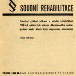 Obálka příručky popisující výklad zákona o soudní rehabilitaci č. 82/1968 Sb.