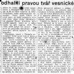 """Článek z plzeňské přílohy Rudého práva ze dne 26. ledna 1950: """"V Chrástu odhalili pravou tvář vesnického boháče"""""""