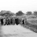 Rok 1949: Agitační průvod pro vstup do JZD (Foto zdroj: Národní zemědělské muzeum)