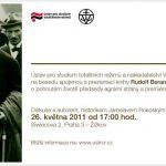 """Pozvánka na prezentaci knihy """"Rudolf Beran a jeho doba"""" (ÚSTR, 26.5.2011)"""