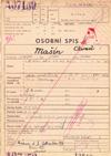 Obálka vězeňského spisu Ctirada Mašína (Národní archiv)