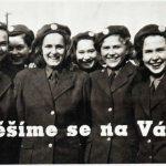 Výřez z agitačního plakátu k náboru děvčat do středisek pracujícího dorostu
