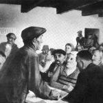 Zakládání JZD v Desné u Litomyšle (fotokopie obrazu akademického malíře Františka Ropka z roku 1949)
