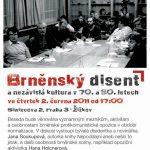 "Pozvánka na filmový seminář ""Brněnský disent a nezávislá kultura v 70. a 80. letech"" (ÚSTR, 2.6.2011)"