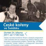 """Pozvánka na seminář """"České kořeny ve Švédsku"""" (ÚSTR, 24.3.2011)"""