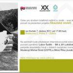 """Pozvánka na prezentaci projektu """"Skautské století"""" (ÚSTR, 7.4.2011)"""