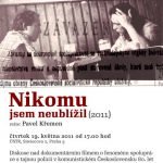 "Pozvánka na filmový seminář ""Nikomu jsem neublížil"" (ÚSTR, 19.5.2011)"