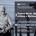 """Pozvánka na seminář """"Toman Brod, žijící svědek z Birkenau"""" (ÚSTR, 27.1.2011)"""