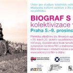 Pozvánka na filmovou přehlídku Biograf s agitkou (Praha, ÚSTR, 5.–9. prosince 2011)