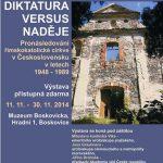 Výstava Diktatura versus naděje v Boskovicích, 10.11.2014