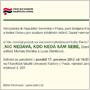 Pozvánka na prezentaci publikace Nic nedává, kdo nedá sám sebe (Filozofická fakulta Univerzity Karlovy v Praze, 17.12.2012)